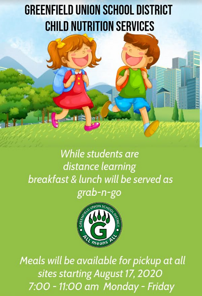 Nutrition Service start of school flyer