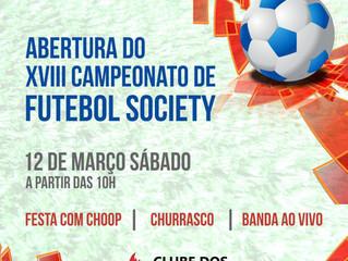 XVIII Campeonato de Futebol Society - Nova Geração