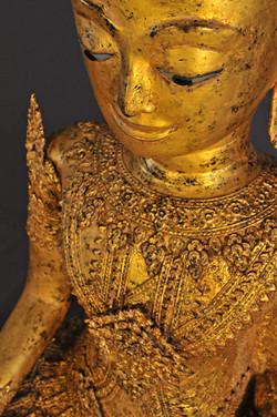 Crowned gilded bronze Buddha