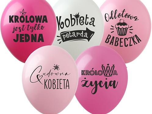"""Zestaw Balonów """"Dla Kobiety"""""""