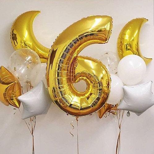 Zestaw balonów na 6 urodziny (#23)