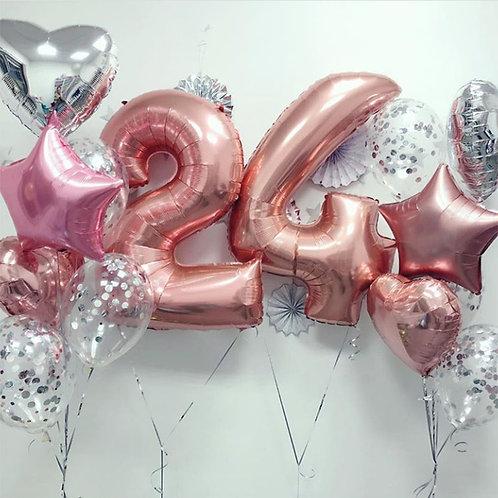 Zestaw balonów na 24 urodziny(#8)