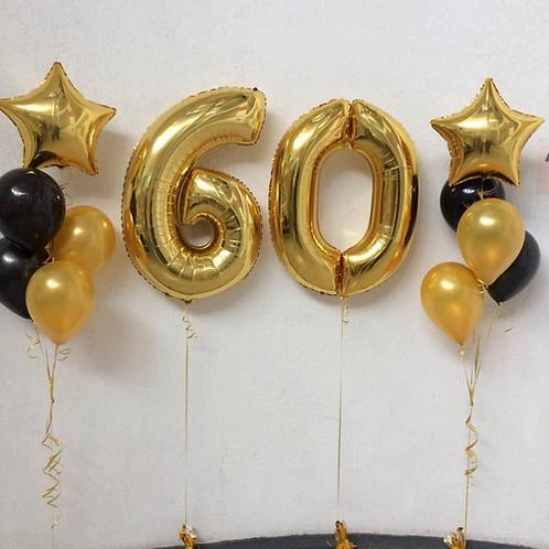 Zestaw balonów na 60 urodziny (#31)
