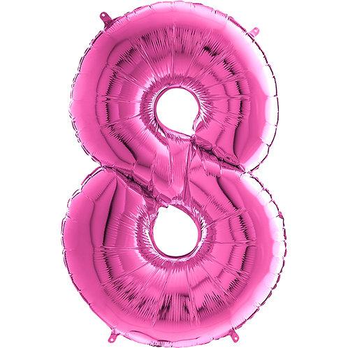 "Cyferka ""8"" różowa"