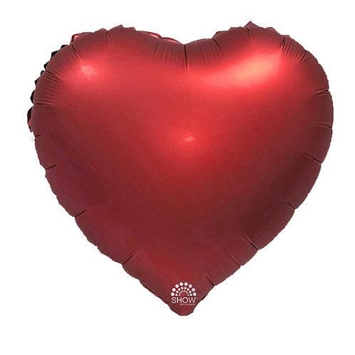 Serce czerwone matowe (48 cm.)