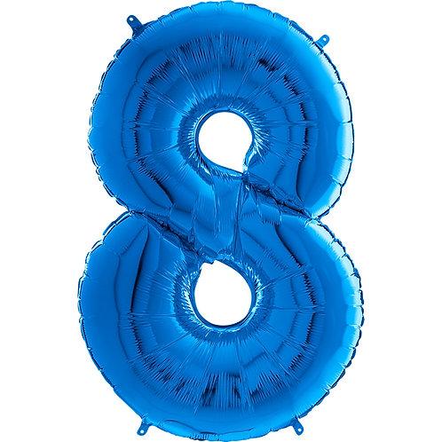 "Cyferka ""8"" niebieska"