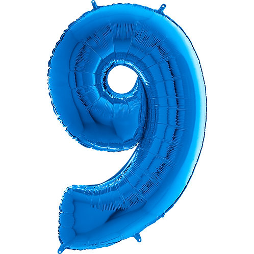 "Cyferka ""9"" niebieska"
