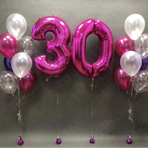Zestaw balonów na 30 urodziny (#30)