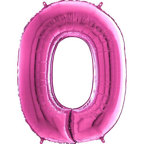 "Cyferka ""0"" różowa"