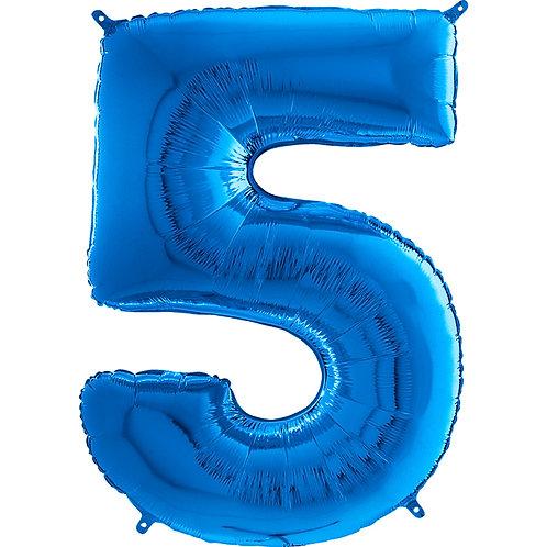 "Cyferka ""5"" niebieska"