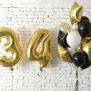 Zestaw balonów na34 urodziny (#19)