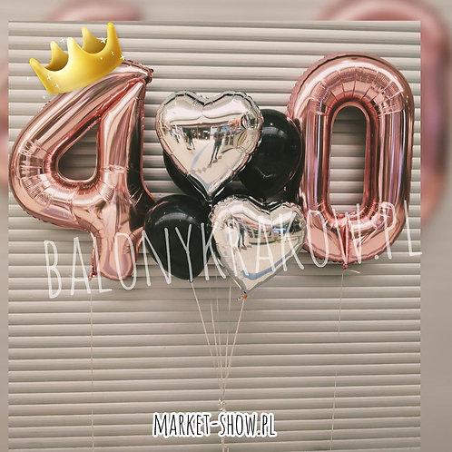 Zestaw balonów na 40 urodziny (#50)