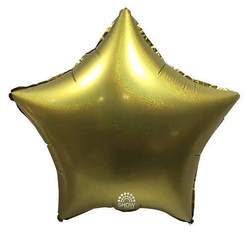 Gwiazda złota brokat (48 cm.)