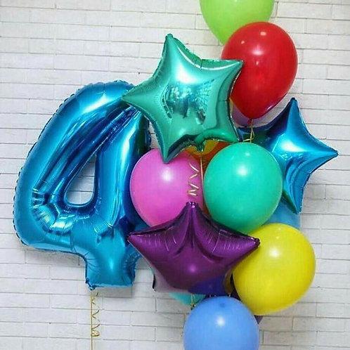 Zestaw balonów na 4 urodziny(#7)
