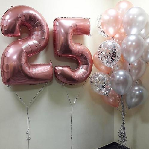 Zestaw balonów na 25 urodziny (#20)