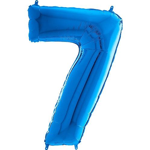 "Cyferka ""7"" niebieska"