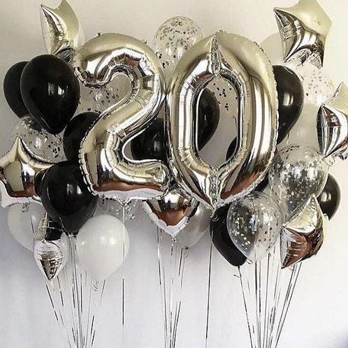Zestaw balonów na 20 urodziny (#34)