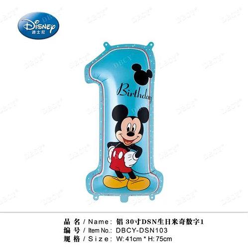 """""""Cyferka 1 Mickey"""" (41*75 cm)"""