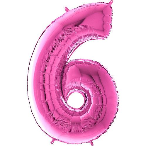 "Cyferka ""6"" różowa"