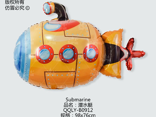 """""""Podwodna łódź"""" (98*76cm)"""