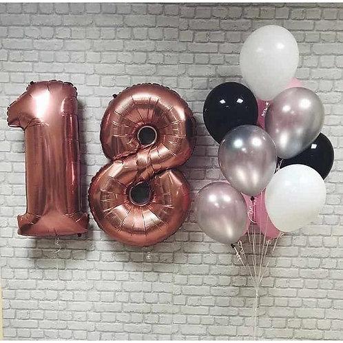 Zestaw balonów na 18 urodziny (#37)