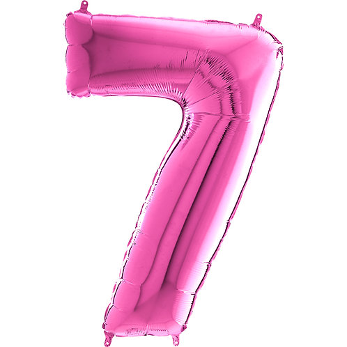 "Cyferka ""7"" różowa"
