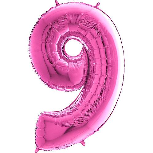 "Cyferka ""9"" różowa"