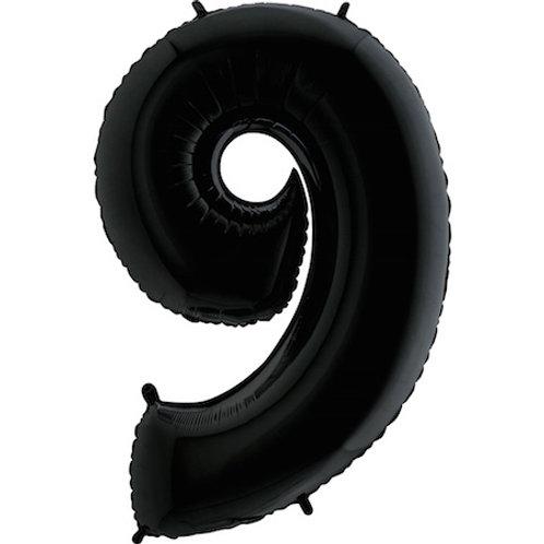 "Cyferka ""9"" czarna"
