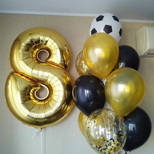 Zestaw balonów na 8 urodziny (#38)