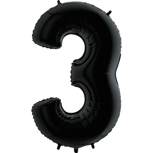"Cyferka ""3"" czarna"