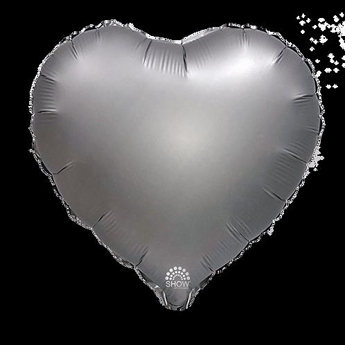 Serce srebrne matowe(48 cm.)