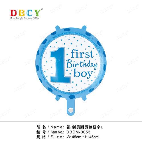 """""""1 urodziny chłopca"""" (48 cm.)"""