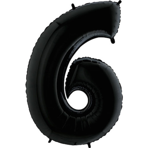 "Cyferka ""6"" czarna"