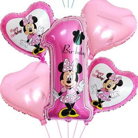 Zestaw balonów na roczek dla Dziewczynki(#57)