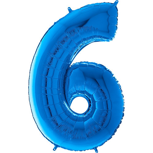 "Cyferka ""6"" niebieska"