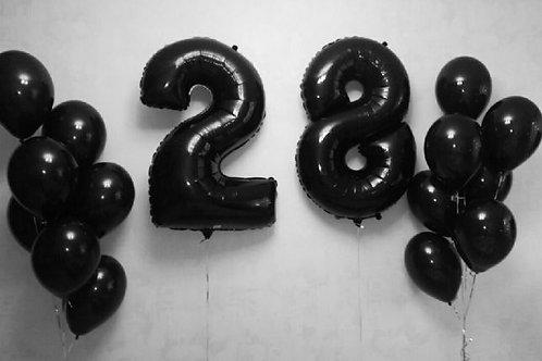 Zestaw balonów na 28 urodziny (#35)