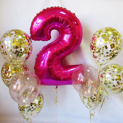 Zestaw balonów na 2 urodziny (#13)