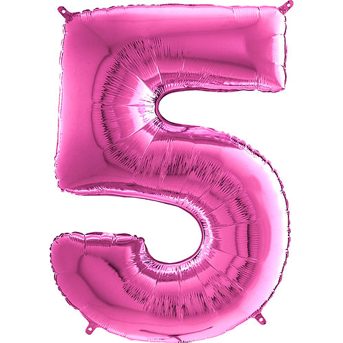 "Cyferka ""5"" różowa"