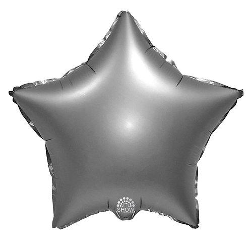 Gwiazda srebrna matowa (48 cm.)