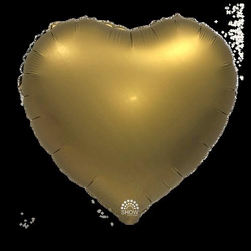 Serce złote matowe (48 cm.)