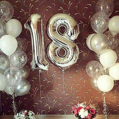 Zestaw balonów na 18 urodziny (#39)