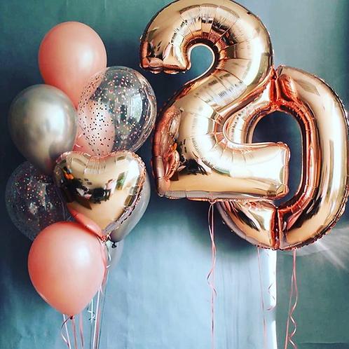 Zestaw balonów na 20 urodziny (#33)