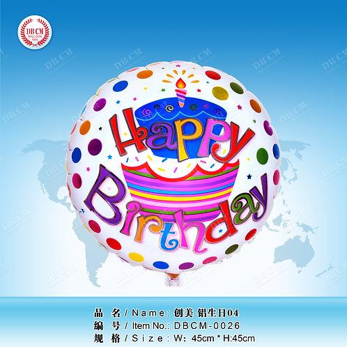 """""""Happy Birthday"""" (48 cm.)"""