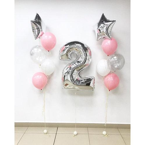 Zestaw balonów na 2 urodziny (#15)