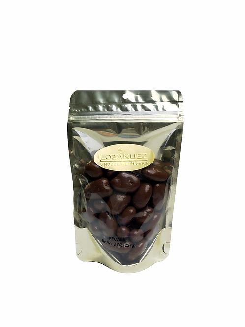 8OZ  Milk Chocolate Pecans