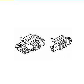 Serie AMP Superseal de 1,5 mm, carcasa para terminales hembra, cable a cable / c