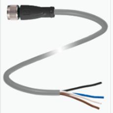 Cable 2 mts con conector M12 Recto de 4 pines material PVC