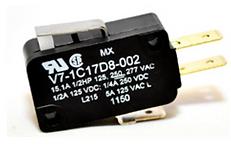 Microinterruptor, 277 Vca 15 A, palanca corta