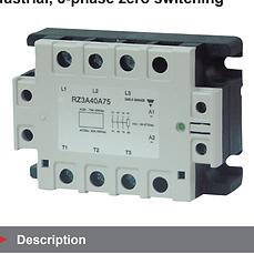 Relé de estado sólido Trifásico SSR RZ 400V 25A 4.5-32VDC LED