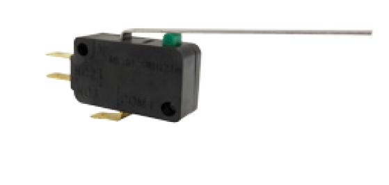 Microinterruptor, 277 Vca 15 A, palanca larga